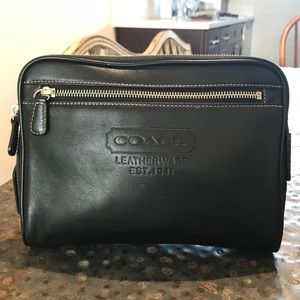 Coach Leather Toiletry Pouch